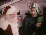 Julemanden og Kimar holder rådslagning i værkstedet på Mars.