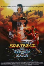 Den originale filmplakat for 'Star Trek II: The Wrath of Khan'.