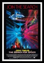 Den originale filmplakat for 'Star Trek III: The Search for Spock'.