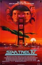 Den originale filmplakat for 'Star Trek IV: The Voyage Home'.