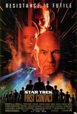 Den originale filmplakat for 'Star Trek: First Contact'.