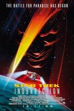 Den originale filmplakat for 'Star Trek: Insurrection'.