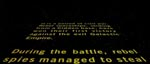 """The opening crawl""."