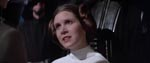 Princess Leia (Carrie Fisher).