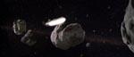 Tusindårsfalken i asteroidefeltet.