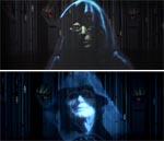 Samme scene i den originale version (øverst) og 2004-udgaven.