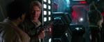 Finn, Han Solo og Chewbacca på Starkiller-basen.