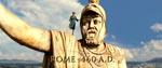 Den unge Romulus Augustus skuer ud over Rom