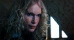 Mia Farrow som den sataniske guvernante Mrs. Baylock - en fin, men naturligvis letkøbt, intertekstuel kommentar