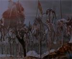 en vision ser Daggett krigen i Himlen - det er spiddede engle i massevis (og et sikkert tegn på, at Gregory Widen har set 'Bram Stoker's Dracula')
