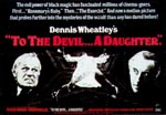 Original plakat til 'To the Devil a Daughter'