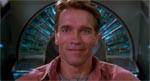 Method acting fra Arnold Schwarzenegger kort før Quaid skal i maskinen.