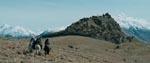 Bjergtagende landskab, da drengene ankommer til Edoras