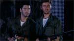 Vore frygtløse hovedpersoner Kenny (Deran Sarafian) og Roger (Ottaviano Dell'Aqua).