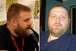 Robert Kirkman til venstre, Ernst til højre - eller er det omvendt?