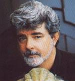 George Lucas ses her sammen med en lille ven