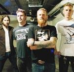 Mastodon. Fra venstre: Troy Sanders, Bill Kelliher, Brent Hinds og Brann Dailor