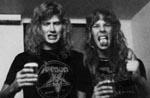 Dave og James Hetfield i 1982, mens de stadig var venner