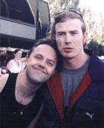Dave og Lars Ulrich efter at de er blevet venner igen