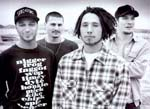 Rage Against the Machine. Fra venstre: Guitarist Tom Morello, trommeslager Brad Wilk, forsanger/rapper Zack de la Rocha og bassisk Tim Cummerford.