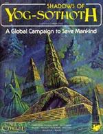 'Shadows of Yog-Sothoth', forsiden af førsteudgaven fra 1982