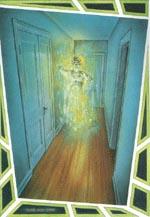 Spøgelset af Henry Hancock i 'The Coven of Cannich'. Farveplanche af Nick Smith