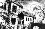 En af de stemningsfulde illustrationer fra 'The Secret of Castronegro'