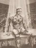 En Cyborg Commando får et eftertjek hjemme i laboratoriet