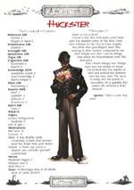 En af Deadlands' præ-genererede karakterer, en hurtigfingret og mystisk Huckster