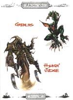 Et par af Deadlands' mere ubehagelige fætre - Ron Spencer har illustreret de fleste af bogens farvebilleder