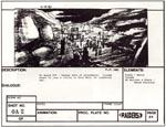 En af bogens fine detaljer: et storyboard fra filmen