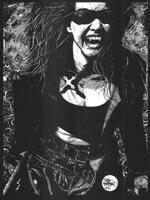 Et klassisk eksempel på Tim Bradstreets karakteristiske illustrationer til 2nd edition 'Vampire: The Masquerade'.