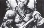 Muskler, tatoveringer, blod og vilde håndvåben, det er essensen af 'Violence'.