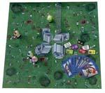 Alt hvad spilboksen indeholder: fire optræks-zombier, fire spilleplade-braintokens og 60 bevægelseskort.