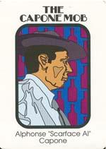 Et eksempel på et af de ni gangsterkort - her fra The Capone Mob