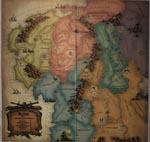 Spillebrættet i grundspillet, der dækker Middle-earth fra Angmar til Rohan