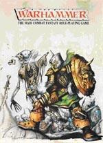 Bokscoveret til den første udgave af 'Warhammer', af John Blanche.