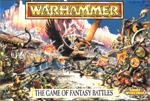 'Warhammer Fantasy Battle 4th edition'-bokscoveret, begyndelsen til den cleane halvfemserstil, og der er da også helvedes stor forskel fra dette til 'The Lost and The Damned'-coveret.