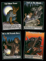 Nogle eksempler på spillets kort