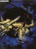 Rumskibet Hellbringer, som er historiens omdrejningspunkt