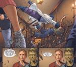 """Hvilken del af """"jeg laver dig om til et gulvtæppe"""" ku' du ikke li'? Wolverine og Beast i kødet på hinanden - bemærk de to begejstrede elever nederst"""