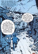 Blueberry og McClure sniger sig ind i spøgelsesbyen San Feliu, der vrimler med mexicanske soldater