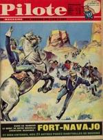 Forsiden af det nummer af 'Pilote', hvori 'Blueberry' debuterede under titlen 'Fort Navajo'