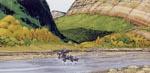 Westernpanorama lige efter bogen