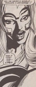 Lorna Dane, aka Polaris. Fra 'X-Men' #65 i Neal Adams' streg.