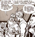 Skurke! Toad, Magneto, Quicksilver og Scarlet Witch. Fra nr. 5.