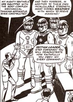 Bolivar Trask og hans Sentinels mens han endnu har styr på dem. Fra nr. 14.