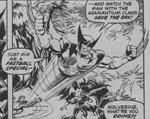 Wolverine i aktion. Fra #114, tegnet af John Byrne.