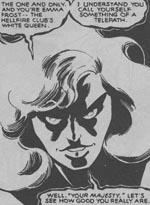 Jean Grey som Phoenix i #131 - her er hun endnu ikke blevet Dark Phoenix, men man fornemmer allerede nu, hvilken vej det går.