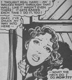 """Den storøjede Katherine """"Kitty"""" Pryde. Fra #130."""